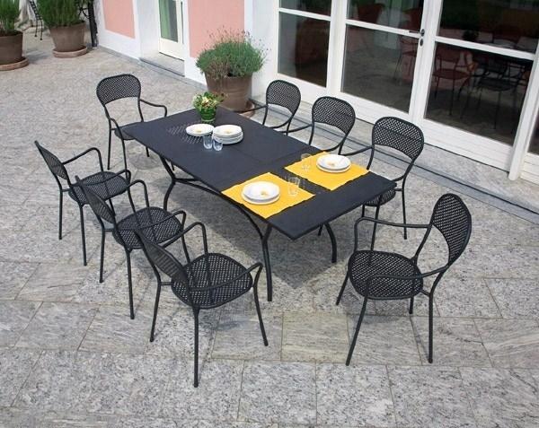 Arredamenti da esterno accessori da esterno - Set da giardino ferro battuto ...