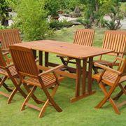 Set tavolo e sedie in legno