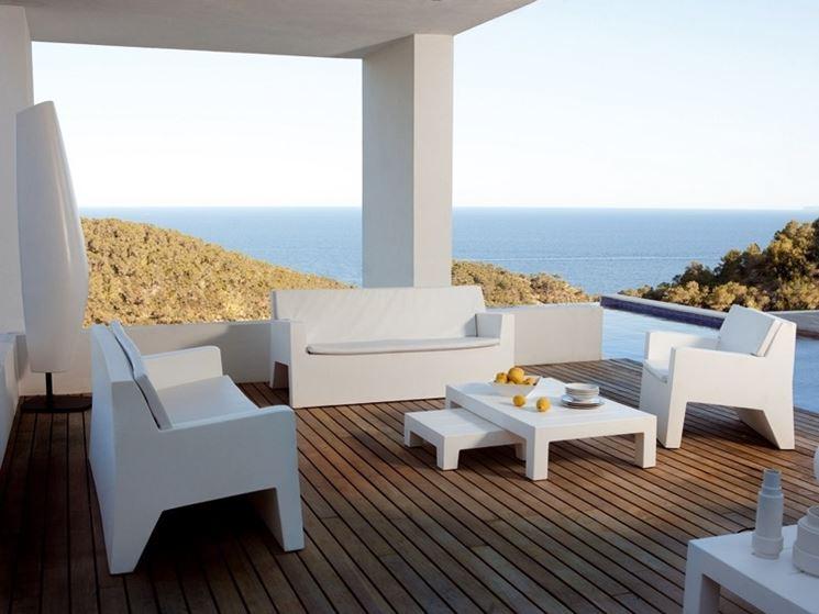 Arredo giardino in plastica accessori da esterno for Muebles de terraza de plastico