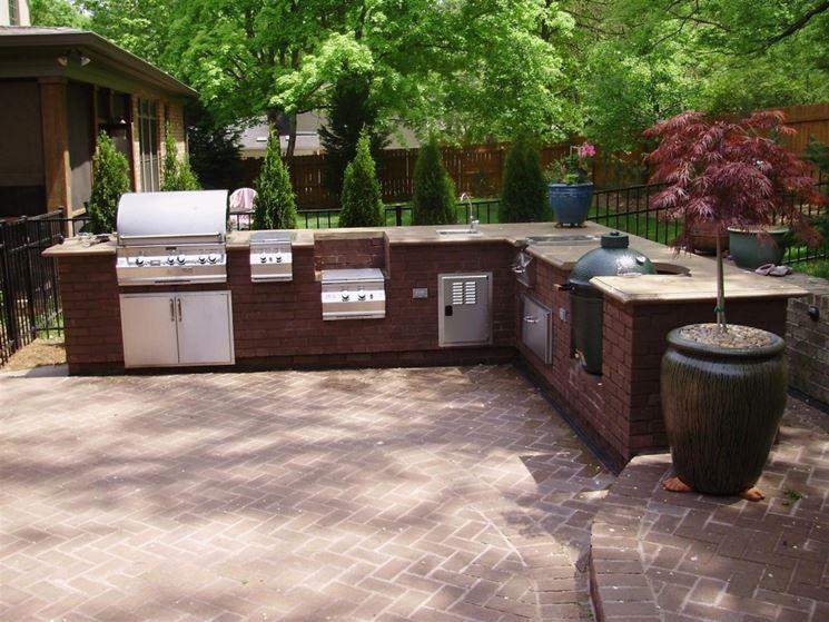 cucina esterno mattoni