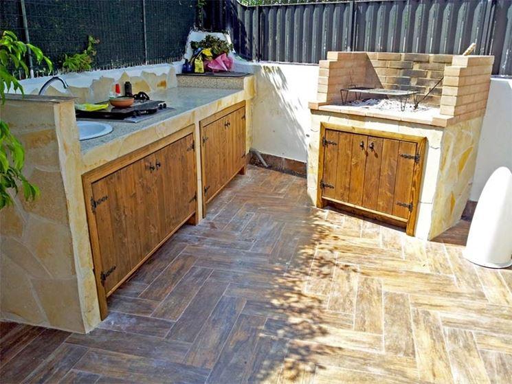 Cucine da esterno accessori da esterno costruire una for Mobili giardino terrazzo