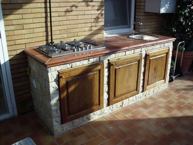 Progettare Una Cucina In Muratura. Top Piantina Cucina Progetto ...