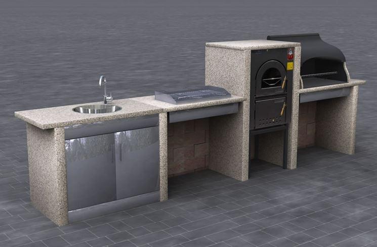 Cucine da esterno - accessori da esterno - Costruire una cucina ...