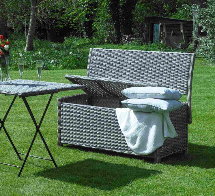 Cuscini da esterno accessori da esterno un tocco for Cassapanca per esterno