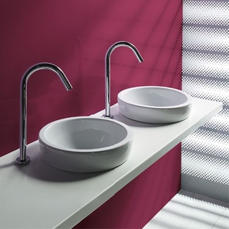 Lavabo da appoggio accessori da esterno - Piano d appoggio per lavabo ...