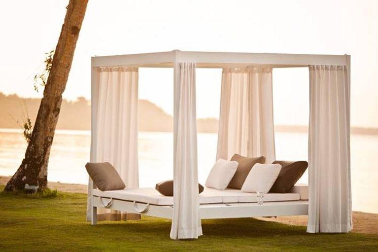 Incantevole modello di letto-gazebo