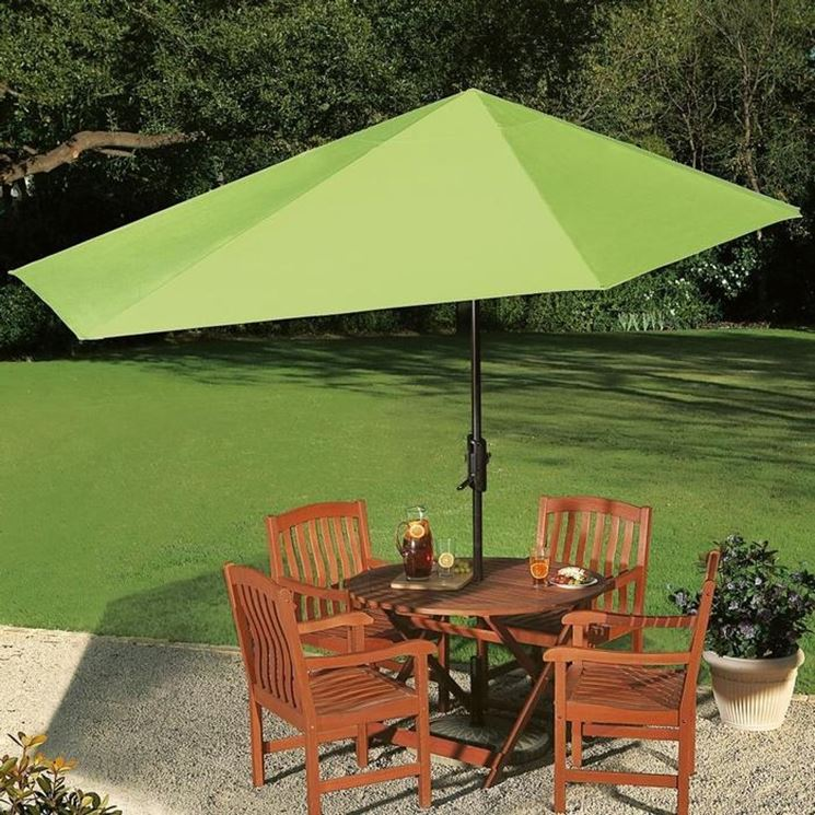 Ombrellone da giardino accessori da esterno ombrelloni da sole per il giardino - Ombrelloni da giardino usati ...