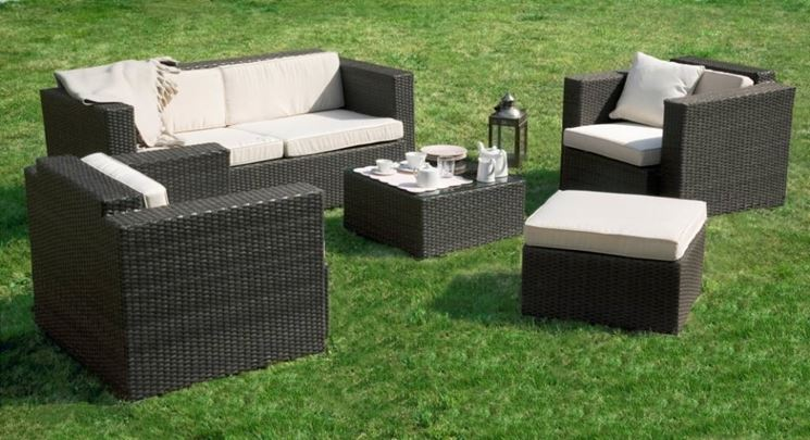 salotti da giardino accessori da esterno salotti per. Black Bedroom Furniture Sets. Home Design Ideas