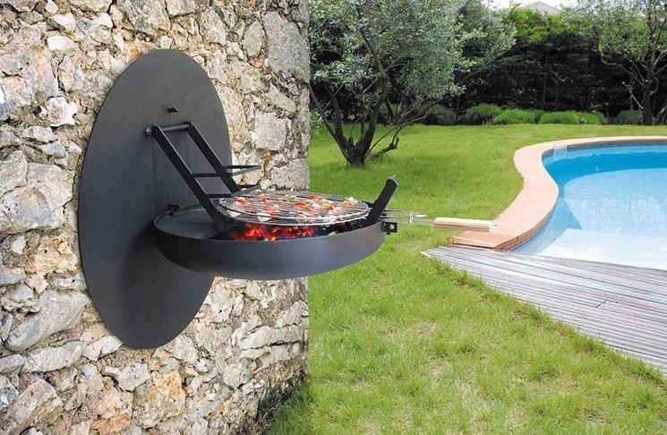 Barbecue in mattoni