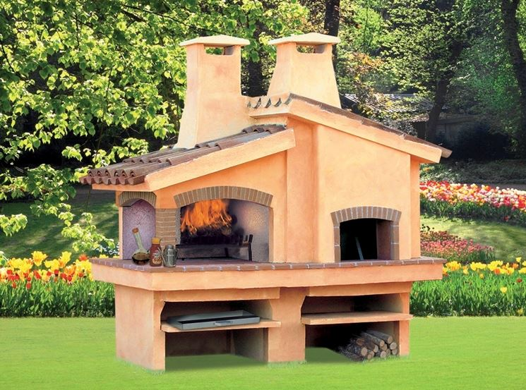 barbecue in cemento e pietra