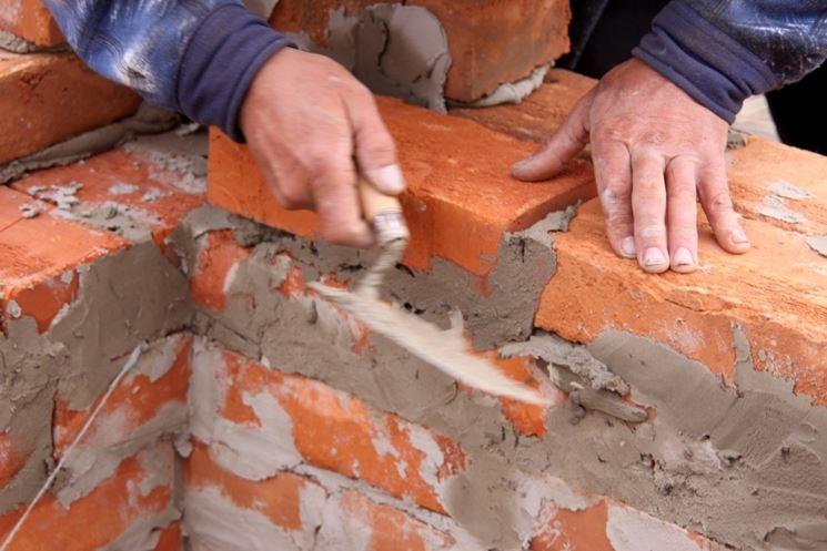 Alcuni materiali di cui avete bisogno: cazzuola e cemento