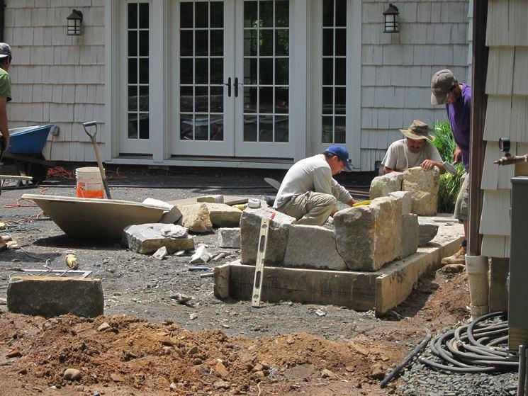 Barbecue in pietra barbecue barbecue per giardino in pietra - Barbecue in pietra per esterni ...
