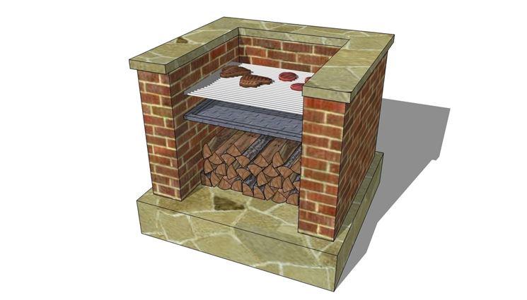 Barbecue in pietra barbecue barbecue per giardino in for Bbq affumicatore fai da te