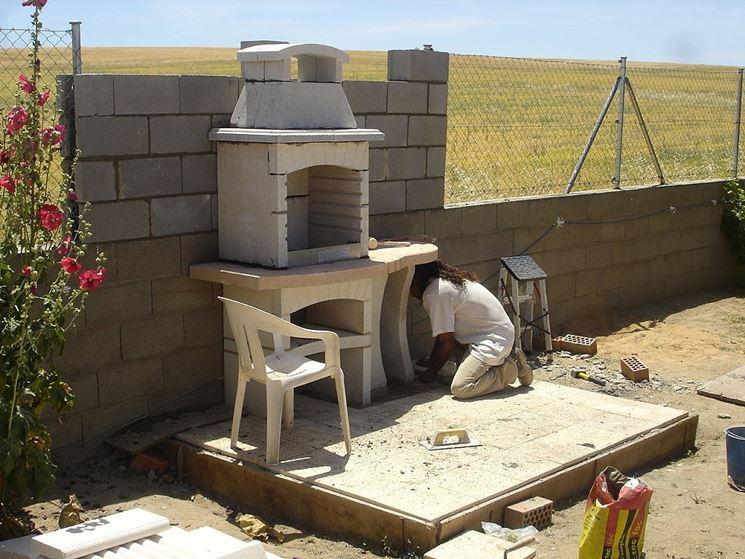 barbecue prefabbricato montaggio