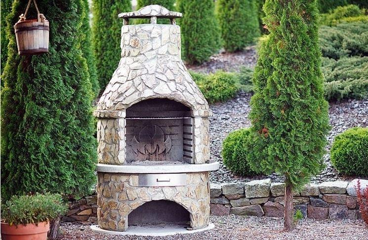 Costruire barbecue in muratura barbecue barbecue in - Camini da esterno in muratura ...