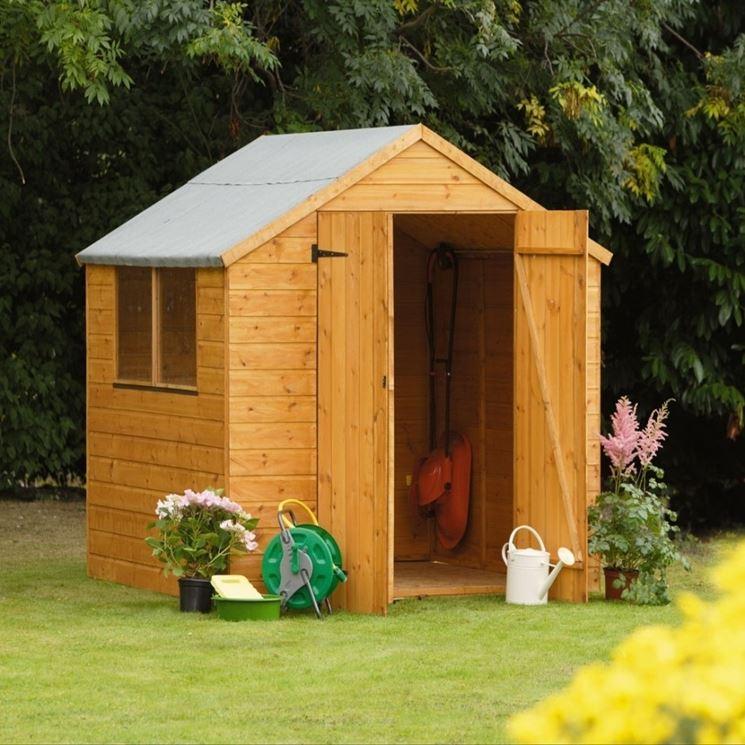 Una piccola e semplice casa da giardino