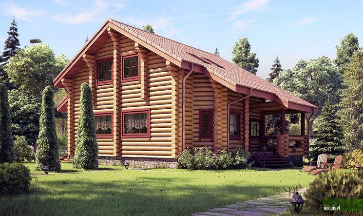 Una casetta in legno per giardino adibita a piccola dependence