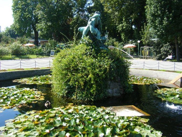 Stagno con fontana