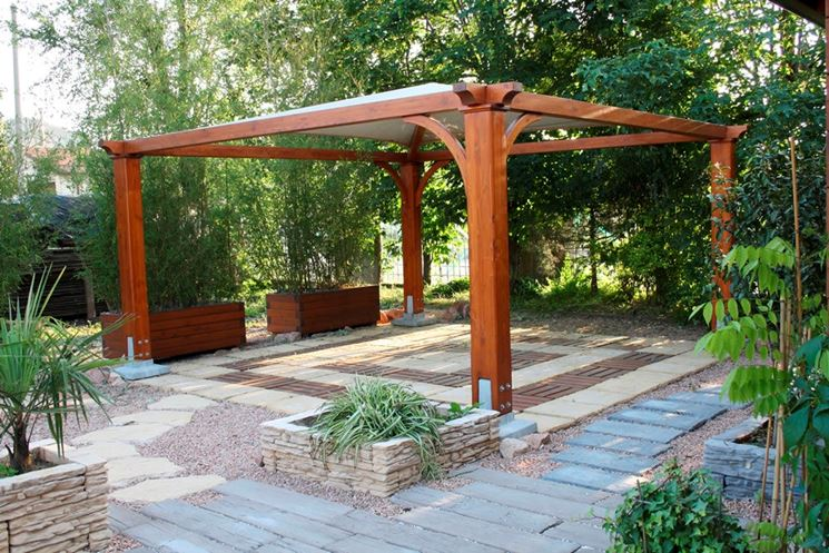 Come costruire un gazebo in legno gazebo costruire un - Pergola giardino ...
