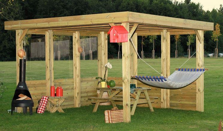 Come costruire un gazebo in legno gazebo costruire un for Come costruire un cabana
