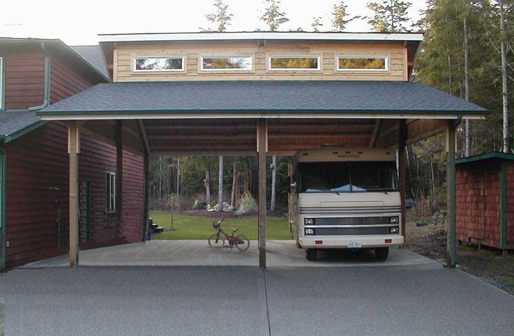 Gazebo in legno per camion