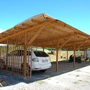 Gazebo per auto in legno