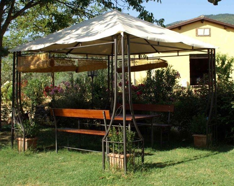 Gazebo da giardino in ferro battuto design casa creativa - Gazebo giardino ...