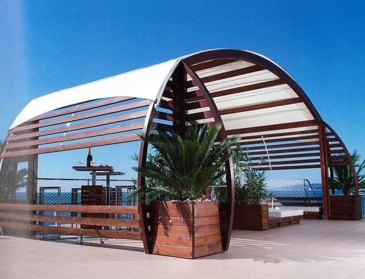 Gazebo di design moderno in legno