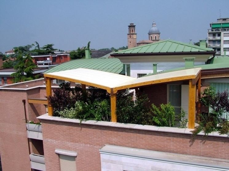 Gazebo per terrazzo