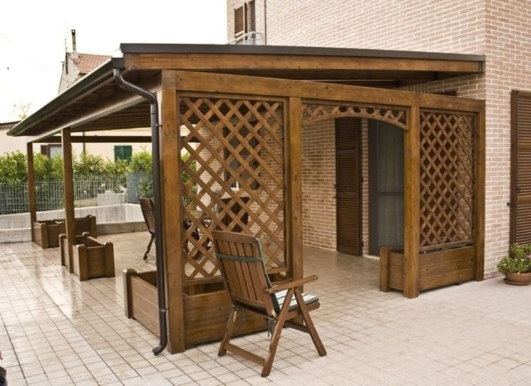 Beautiful gazebo per terrazza contemporary design trends - Arredamento per giardino ...