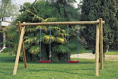 Altalena giochi da giardino installare un 39 altalena in for Altalena legno usata