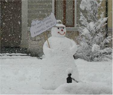 Un esempio di pupazzo di neve.