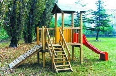 Scivoli in legno giochi in giardino - Altalene bambini per esterno ...
