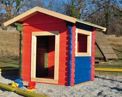 Casette Per Bambini In Legno : Casetta giocattolo per bambini in legno con scivolo lavagna