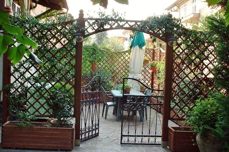 Divisori da giardino grigliati e frangivento da giardino - Pannelli divisori giardino ...