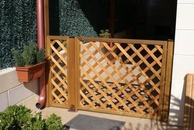 Grigliati in legno grigliati e frangivento da giardino - Separe da esterno ...