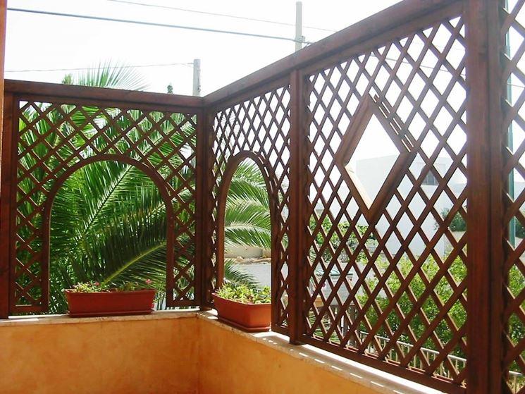 Grigliati legno grigliati e frangivento da giardino for Grigliati con fioriera