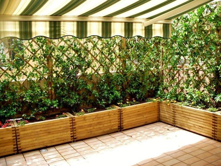 Grigliati legno - grigliati e frangivento da giardino - Arredare con ...