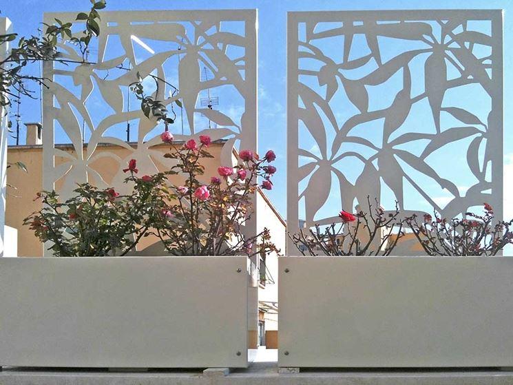Grigliati per terrazzi - grigliati e frangivento da giardino ...