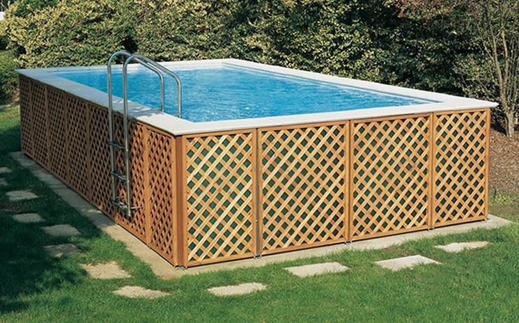 Grigliato in legno grigliati e frangivento da giardino - Recinzione piscina legno ...