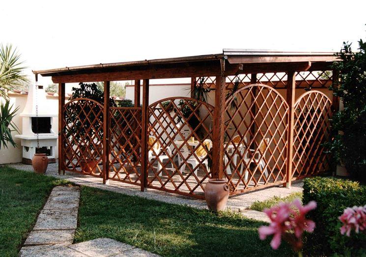 Griglie legno giardino grigliati e frangivento da for Giardino e arredamento esterni