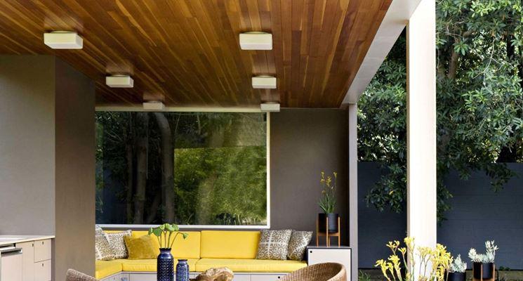 Plafoniere Moderne Da Esterno : Plafoniere da esterno illuminazione giardino tipologie di