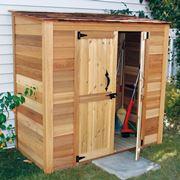 armadio da giardino in legno