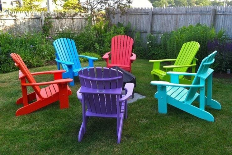 Arredamenti giardino colorati