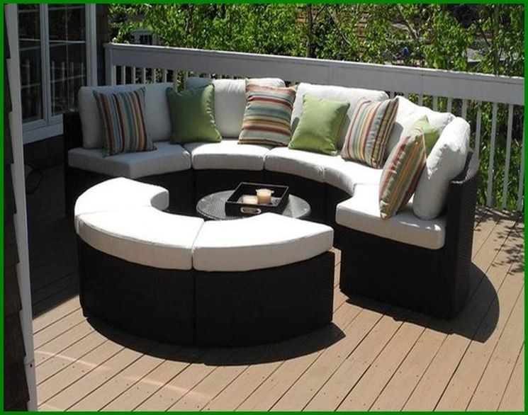 ... Per 4 Persone Elegante Set Sofà Garden Living Colore Grigio Chiaro