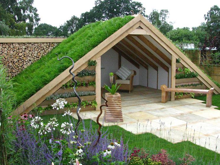Arredamento moderno per giardino