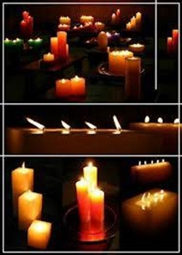 Le candele in giardino