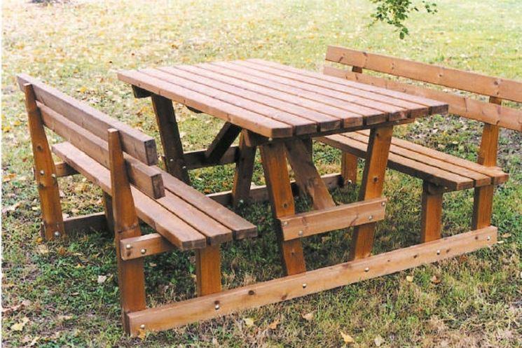 i tavoli da giardino in legno: il giardino di legno tavolo rotondo ... - Tavolo Panca Da Giardino