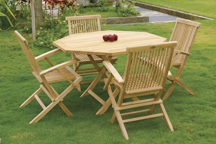 mobili da giardino in legno - mobili da giardino - tipologie dei ... - Tavolo Da Giardino In Legno Teak