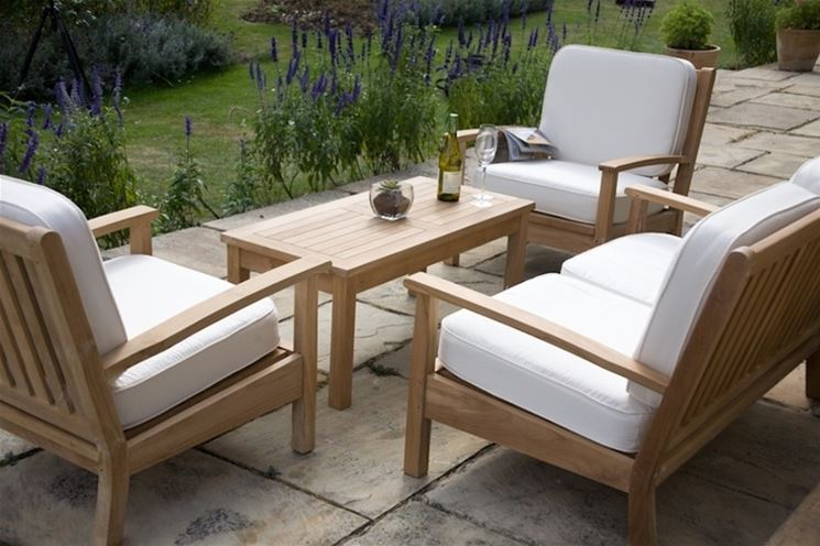 Mobili da giardino in legno - mobili da giardino ...